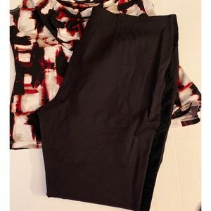 USED SIMPLY VERA BLACK PANTS XL MAKE AN OFFER